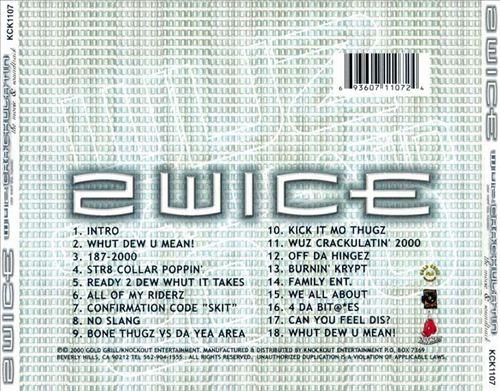 2wice - Wuz Crackulatin' 2000 (Back)