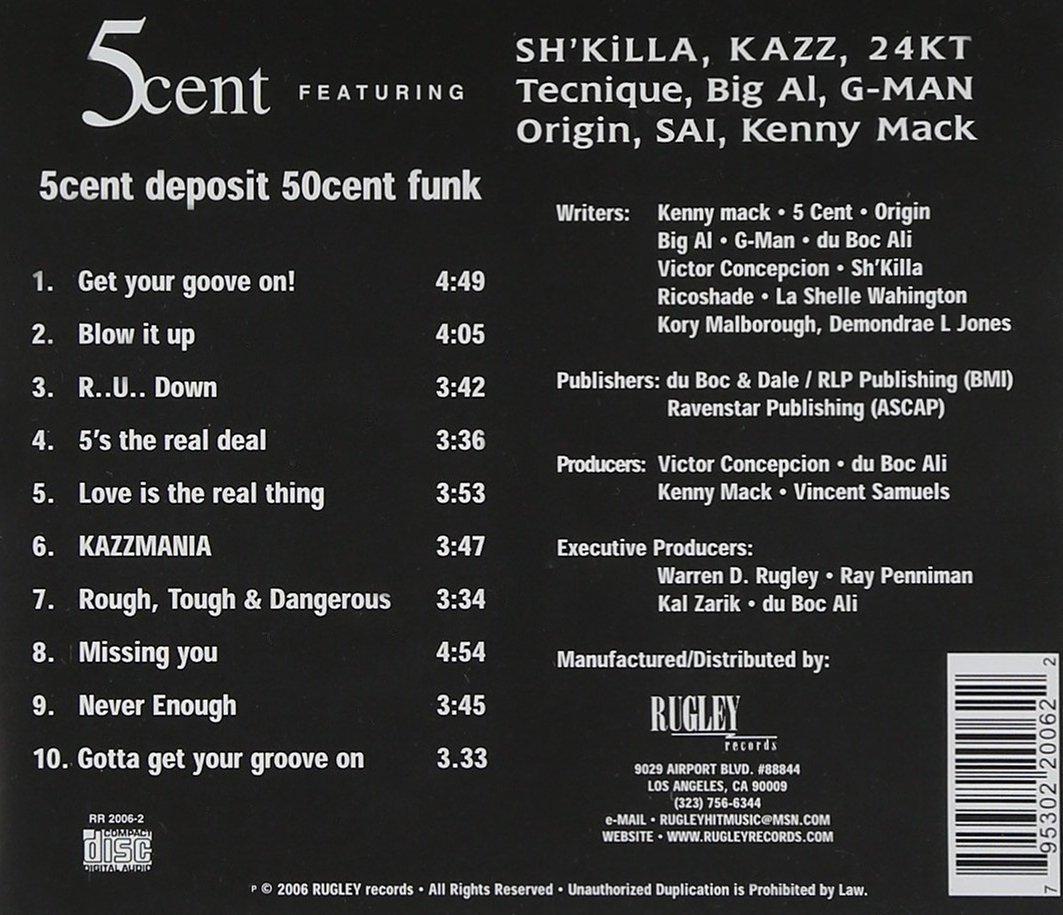 5Cent - 5Cent Deposit 50Cent Funk!! (Back)