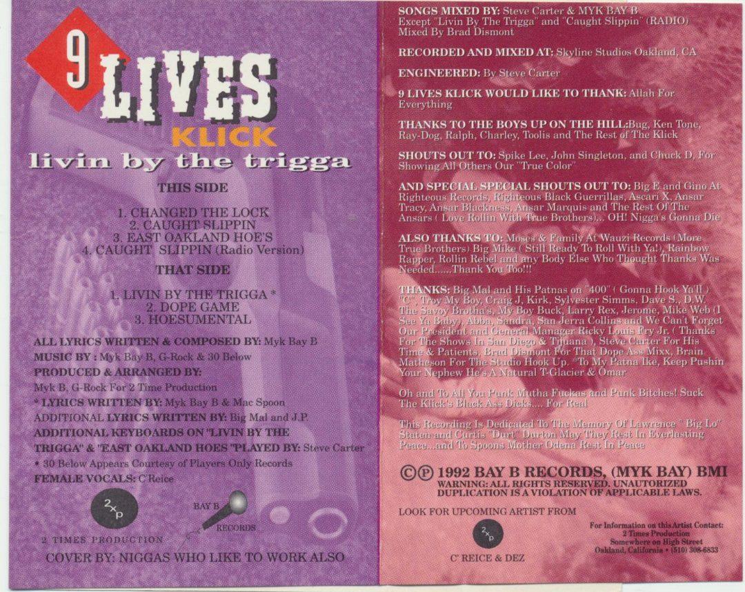 9 Lives Click - Livin By The Trigga (Inlay)