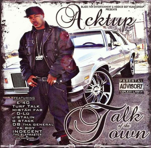 Acktup - Talk Of Tha Town (Front)