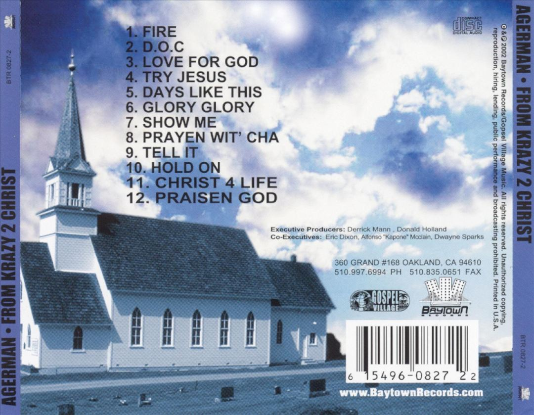 Agerman - From Krazy 2 Christ (Back)