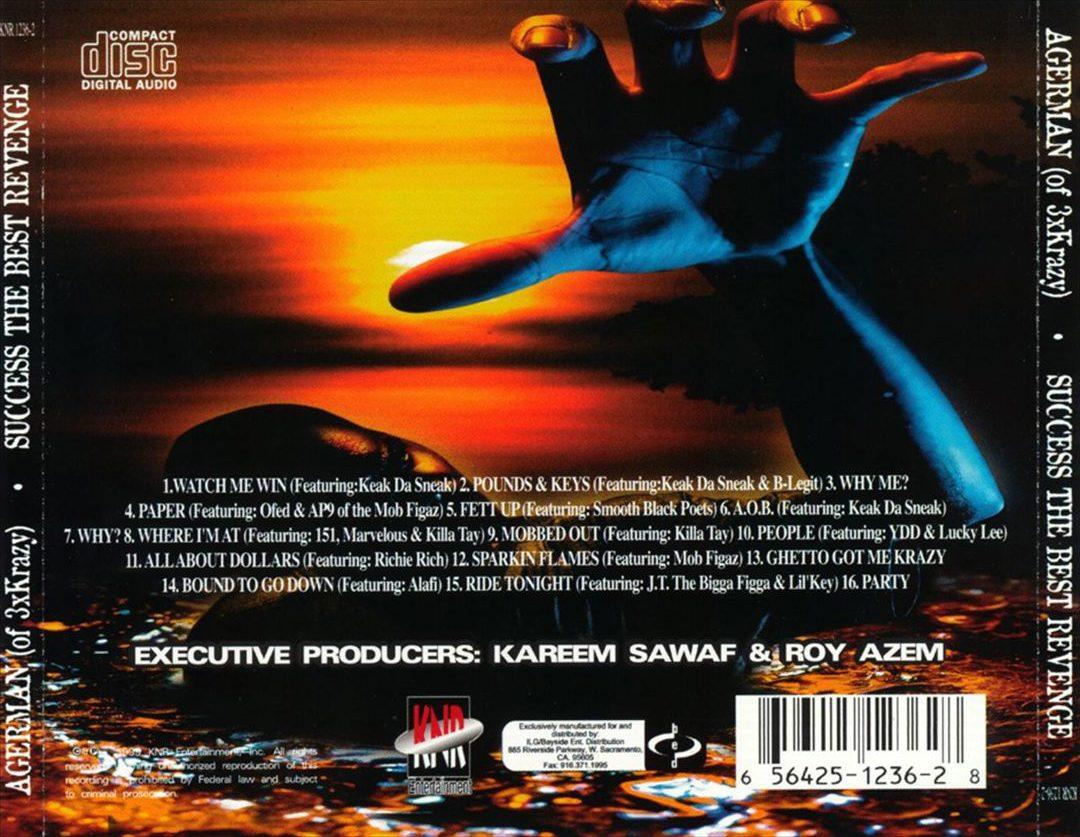 Agerman - $uccess The Best Revenge (Back)