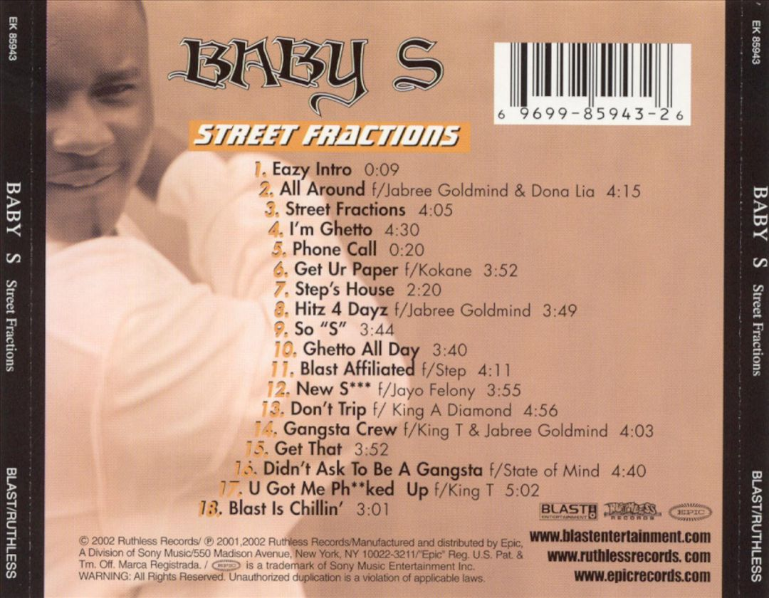 Baby S - Street Fractions (Back)