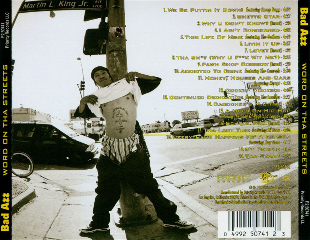 Bad Azz - Word On Tha Streets (Back)