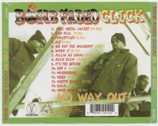 Bomb Faded Click - No Way Out! (Back)