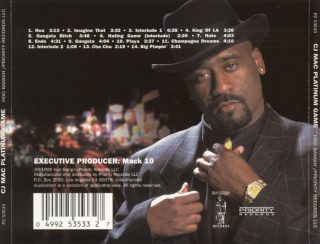 CJ Mac - Platinum Game (Back)
