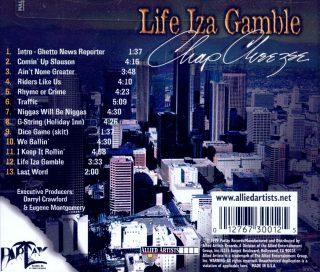 Chap Cheezee - Life Iza Gamble (Back)