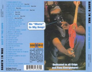 Crips - Bang'n On Wax The Best Of The Crips (Back)