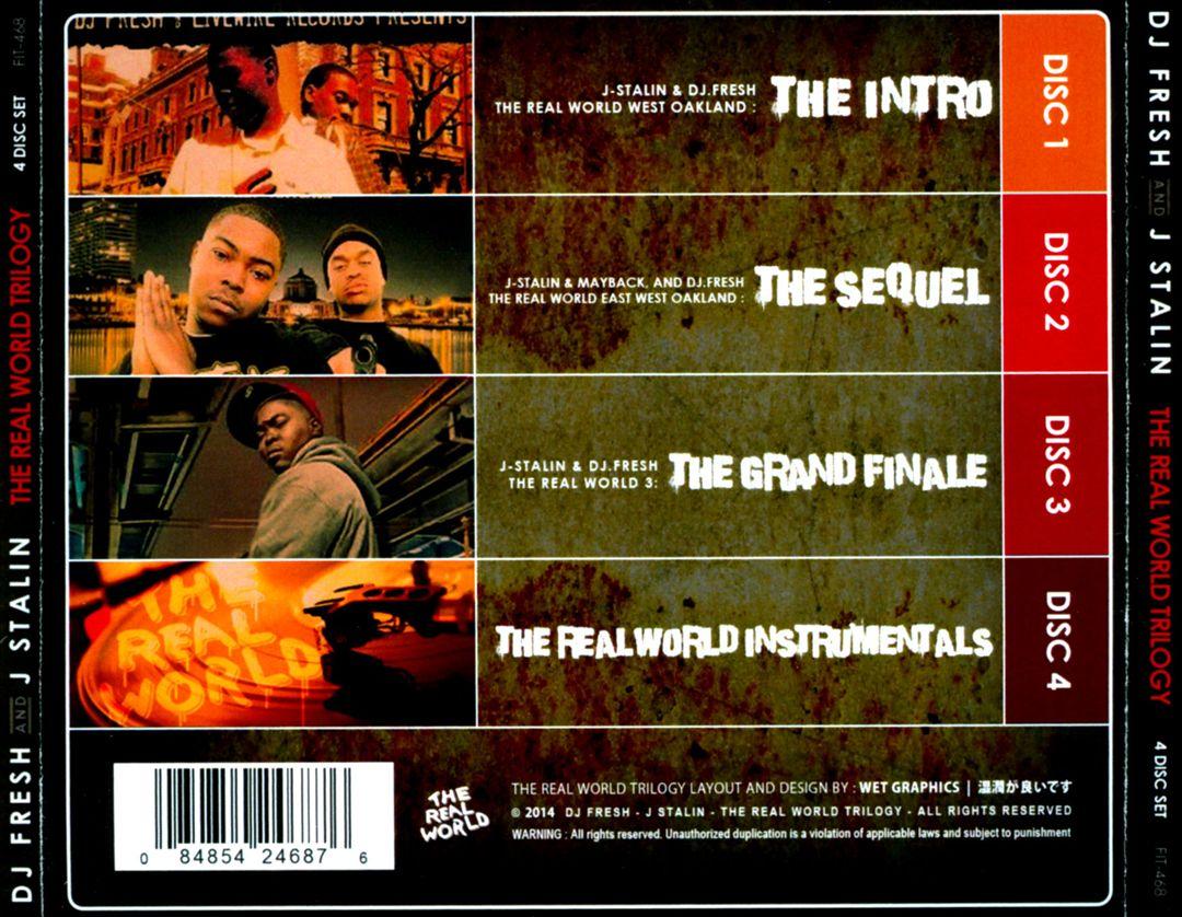 DJ Fresh & J. Stalin - The Real World Trilogy (Back)