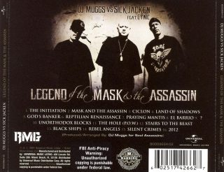 DJ Muggs Vs Sick Jacken Feat Cynic - Legend Of The Mask And The Assassin (Back)