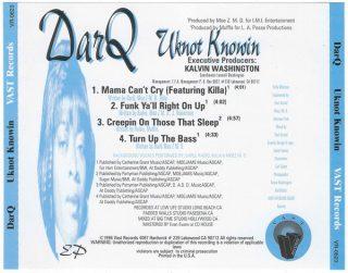 DarQ - Uknot Knowin (Back)