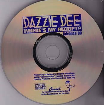 Dazzie Dee - Where's My Receipt (Front)