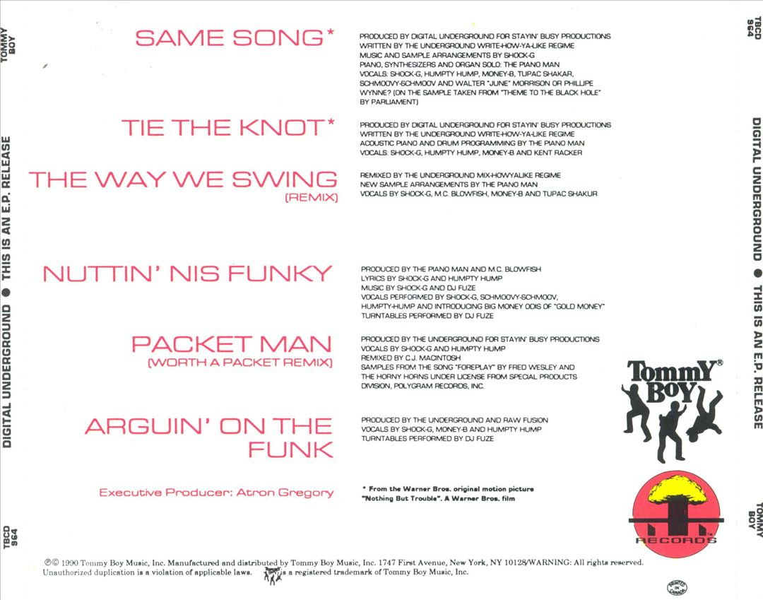 Digital Underground - This Is An E.P. Release (Back)