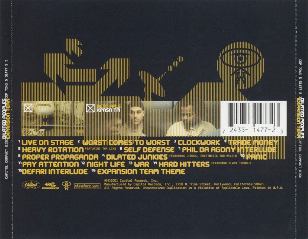 Dilated Peoples - Expansion Team (Back)