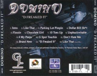 Domino - D Freaked It (Back)