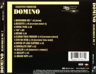 Domino - Remember Me (Back)