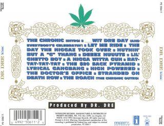 Dr. Dre The Chronic Back