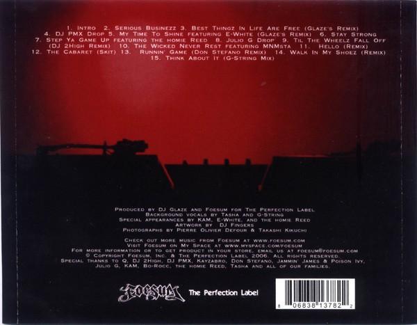 Foesum - The G-Mixes (Back)