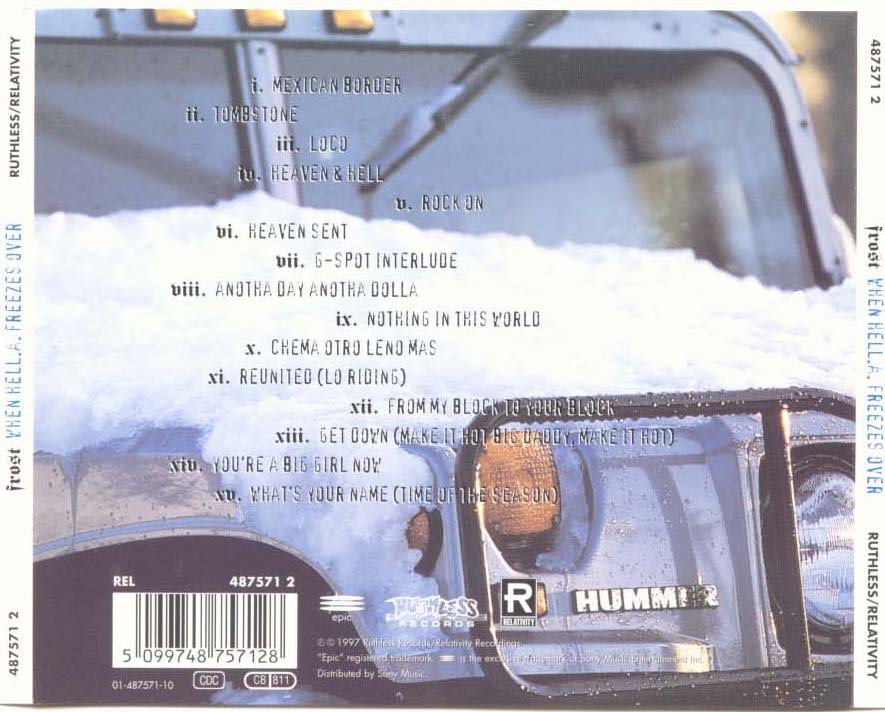 Frost - When HELL.A. Freezes Over (Back)