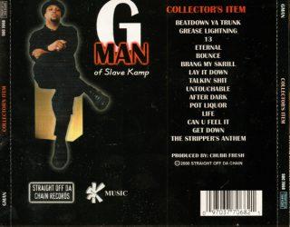 G Man Collectors Item Back