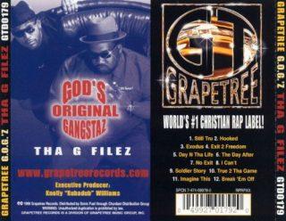 God's Original Gangstaz - Tha G Filez (Back)