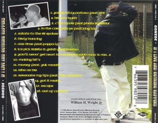 Gonzoe - If I Live And Nothing Happens (Back)