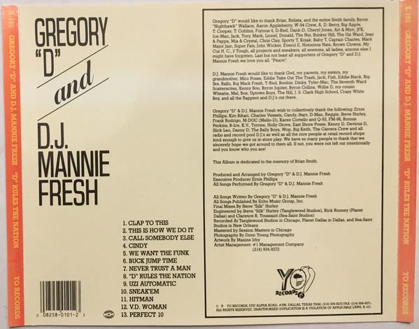 Gregory D & DJ Mannie Fresh - D Rules The Nation (Back)
