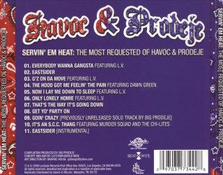 Havoc & Prodeje - Servin' Em Heat The Most Requested Of Havoc & Prodeje (Back)
