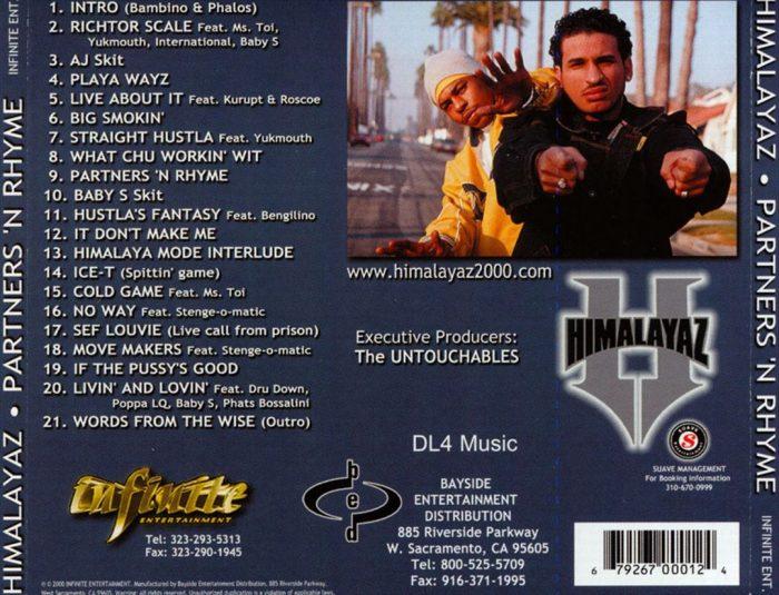 Himalayaz - Partners'N Rhyme (Back)