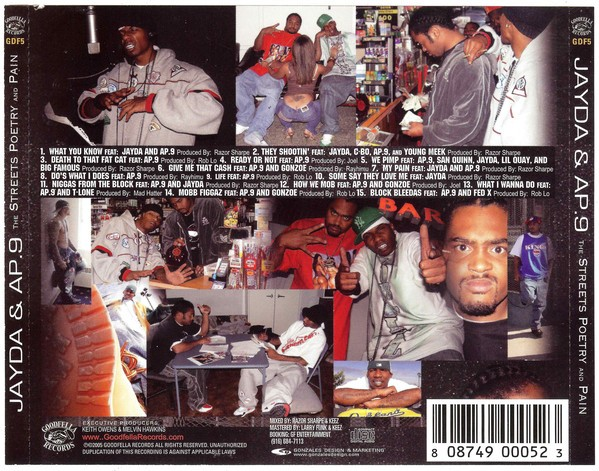Jayda & AP.9 - The Streets, Poetry And Pain (Back)