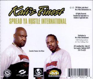 Kalis Finest Spread Ya Hustle International Back