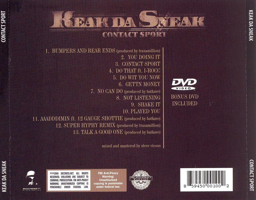 Keak Da Sneak - Contact Sport (Back)