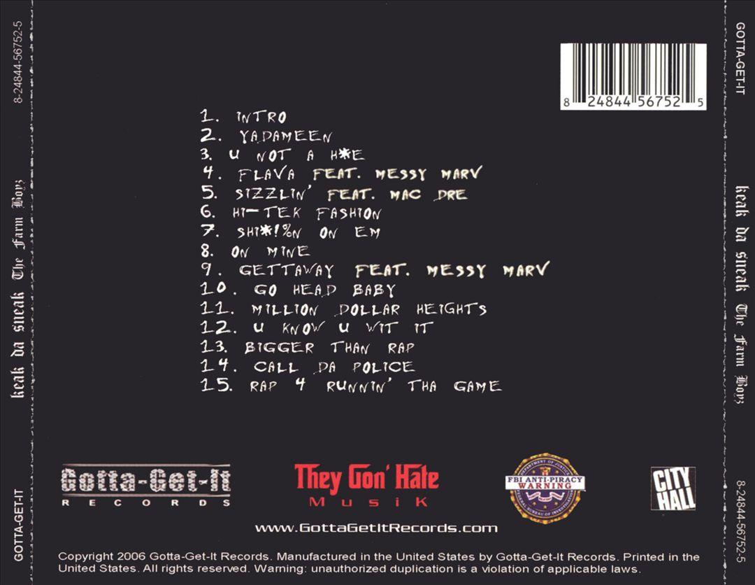 Keak Da Sneak - The Farm Boyz (Special Edition) [Back]