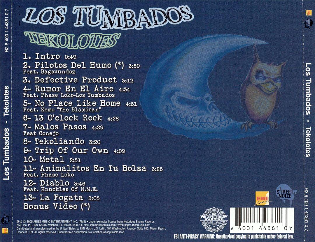 Los Tumbados - Tekolotes (Back)