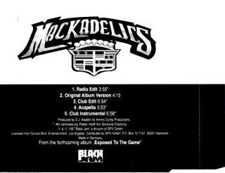 Mackadelics Power Of A Playa Back