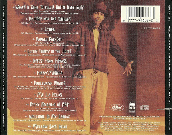 Mellow Man Ace - The Brother With Two Tongues (Back)