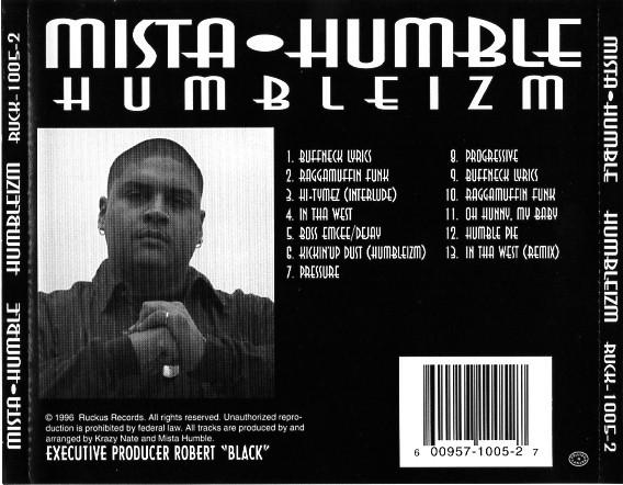Mista Humble - Humbleizm (Back)