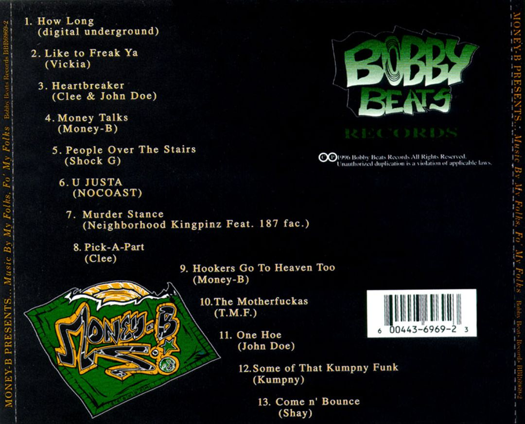 Money-B - Folk Music (Volume 1) (Music By My Folks, Fo' My Folks) [Back]