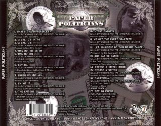 Pat Lowrenzo Killa Tay Paper Politicians Back