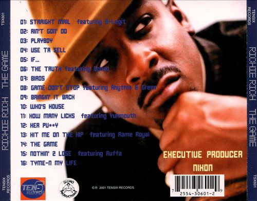 Richie Rich - The Game (Back)