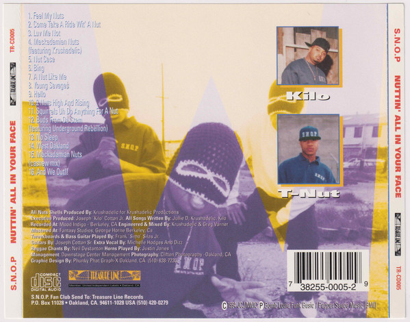 S.N.O.P. - Nutt'In All Over Your Face (Back)