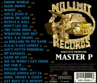 Snoop Dogg - Da Game Is To Be Sold, Not To Be Told (Back)