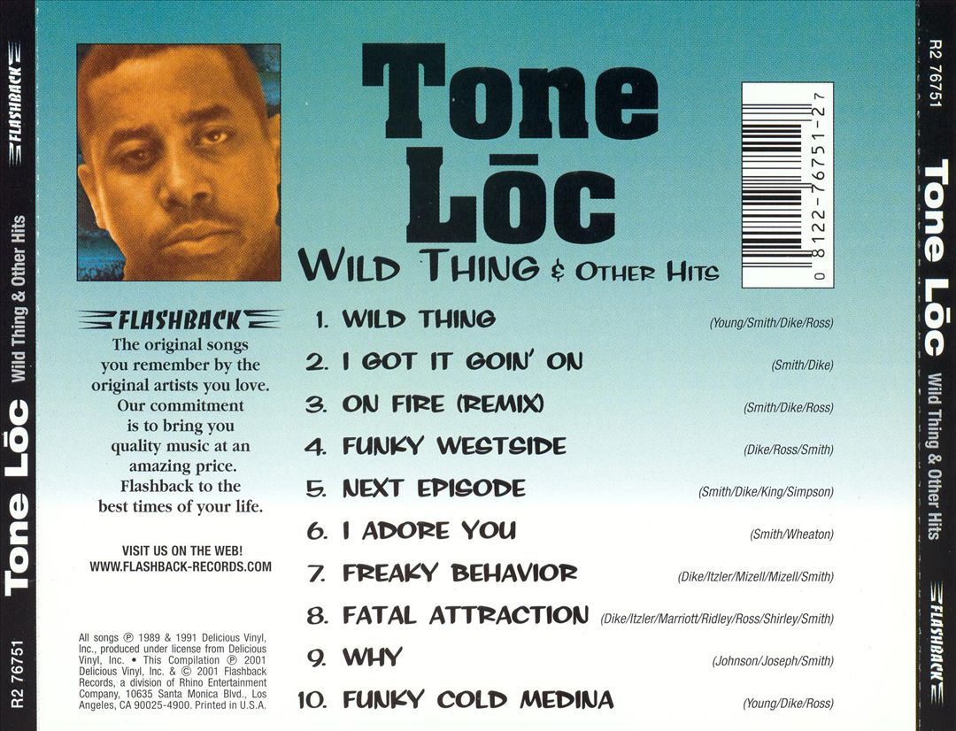 Tone Loc - Wild Thing & Other Hits (Back)