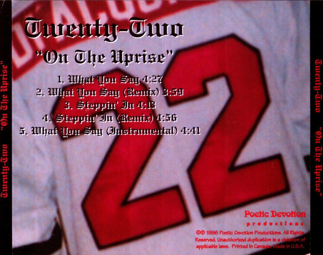 Twenty Two - On The Uprise (Back)