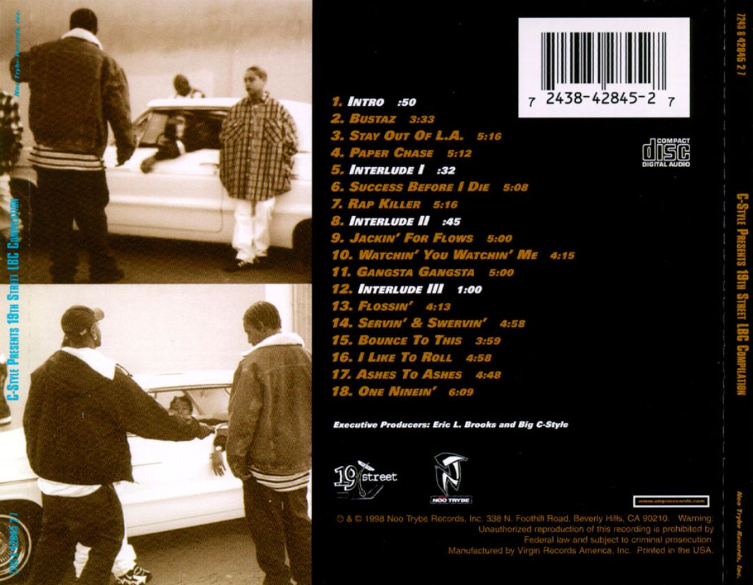 Various - C-Style Presents 19th Street LBC Compilation (Back)