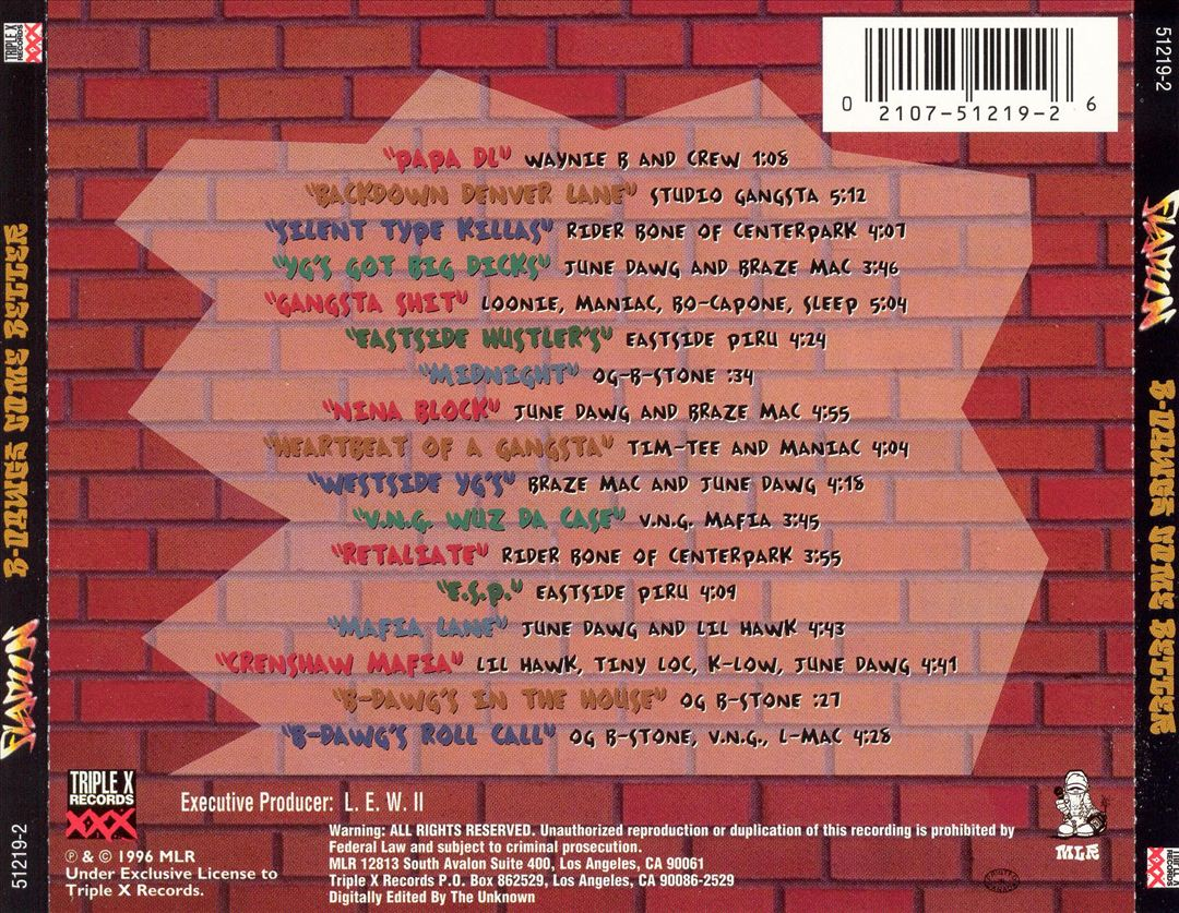 Various - Flamin' B-Dawgs Come Better. (Back)