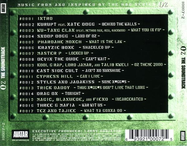 Various - OZ - The Soundtrack (Back)