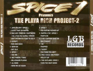 Various Spice 1 Presents The Playa Rich Project 2 Back
