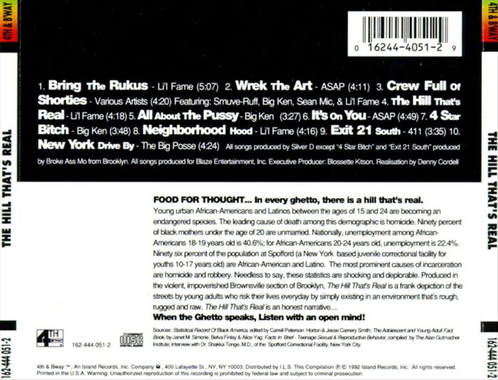 Various - The Hill That's Real (Back)