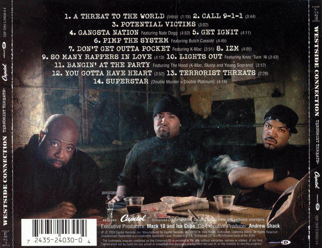 Westside Connection - Terrorist Threats (Back)